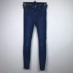 Hollister 0/24 High Rise Legging Ankle Zip Jeans